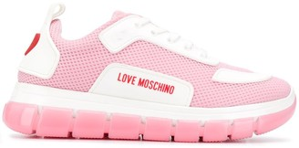 Love Moschino Flat Low Top Sneakers