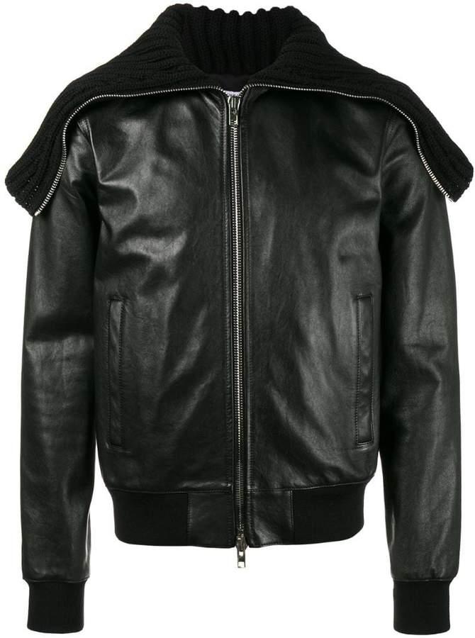 Givenchy Oversized collar leather jacket