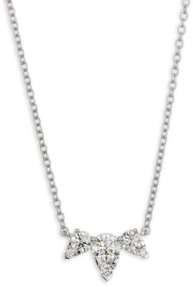 Hearts On Fire Aerial Triple Diamond & White Gold Necklace