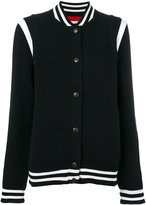 Givenchy logo varsity knit cardigan - women - Cotton/Polyamide/Polyester/Wool - XS
