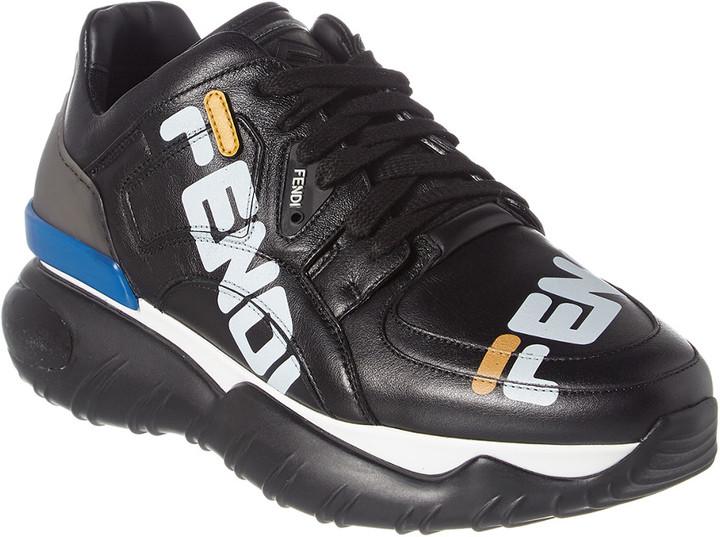 Fendi Mania Leather Platform Sneaker