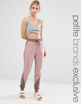 One Day Petite Contrast Panel Track Pant