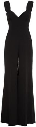 Emilia Wickstead Pleated Crepe Wide-leg Jumpsuit
