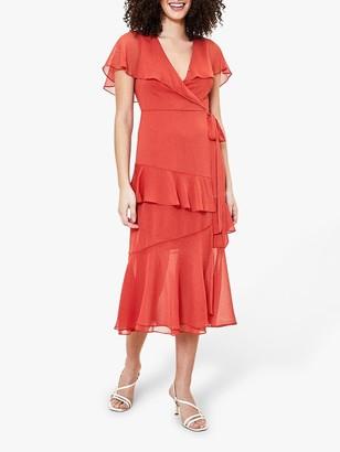 Oasis Crinkle Midi Dress, Bronze