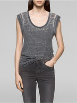 Calvin Klein Faded Rolled Sleeve Top