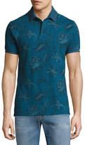 Etro Paisley-Print Cotton Polo Shirt, Navy