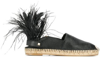 Valentino feather detail espadrilles