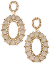 INC International Concepts Gold-Tone Pink Stone & Pave Oval Drop Earrings, Created for Macy's