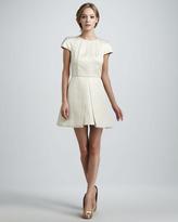 Tibi Pleated Jacquard Dress