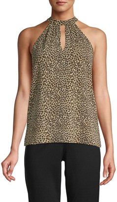 Supply & Demand Cheetah-Print Halter Top