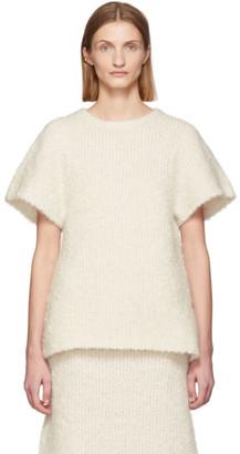 Totême Off-White Mohair Boucle Espera Sweater