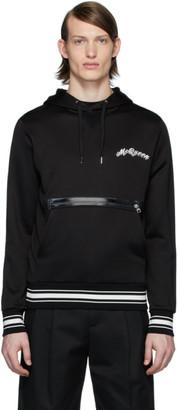 Alexander McQueen Black Embroidered Logo Hoodie