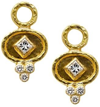 Elizabeth Locke Stone 19K Yellow Gold & Diamond Small Earring Charms
