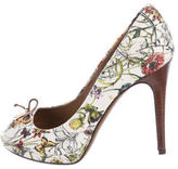 Gucci Flora Peep-Toe Pumps