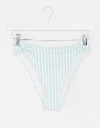 Hollister high leg bikini bottoms in stripe