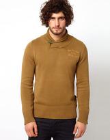 G Star Sweater Shawl Collar Knit