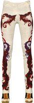 Just Cavalli Feather Printed Viscose Pants