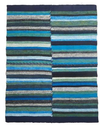 The Elder Statesman Patchwork Striped Cashmere Blanket - Multi