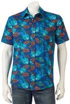 Ocean Current Men's Tropical Print Button-Down Shirt