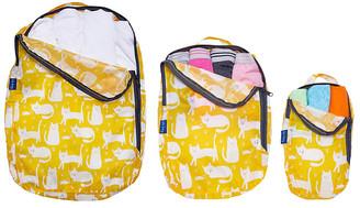 Rockflowerpaper rockflowerpaper Women's Luggage - Yellow Cat Three-Piece Travel Bag Set