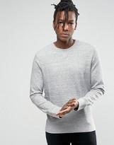Selected Crew Neck Sweatshirt in Melange Jersey