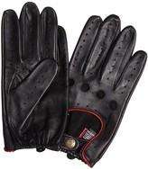 Dents Delta Black Leather Driving Gloves