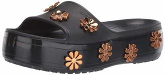 Crocs Crocband Platform Metallic Blooms Slide Sandal