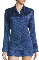Printed Silk Pajama Shirt