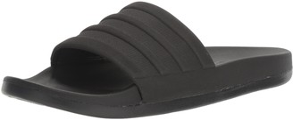 adidas Men's Adilette Comfort Slide Sandal Black ((15 M US)