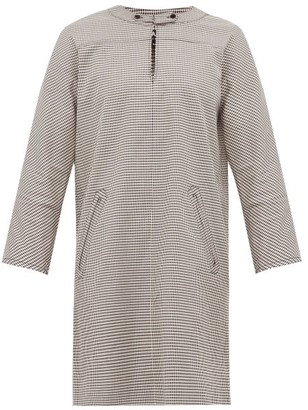 A.P.C. Buttoned Gingham Shift Dress - Womens - Black White