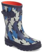 Joules Printed Waterproof Rain Boot