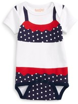 Infant Girl's Sara Kety Baby & Kids Polka Dot Bodysuit
