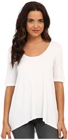 Three Dots 1/2 Sleeve Relaxed High Low Tee Women's Short Sleeve Pullover