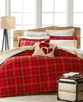 Martha Stewart Collection CLOSEOUT! Martha Stewart Collection Appleton Plaid Flannel Full/Queen Duvet Cover