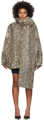 Alexander Wang Beige Oversized Cheetah Coat