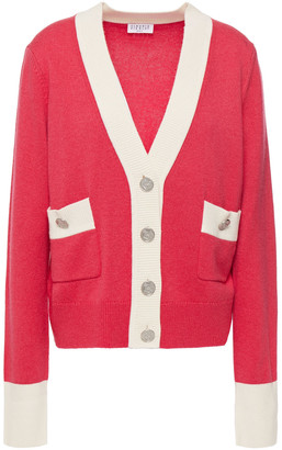 Claudie Pierlot Two-tone Knitted Cardigan