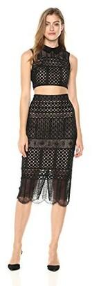 BCBGMax Azria Women's Flo Two-Piece Lace Dress