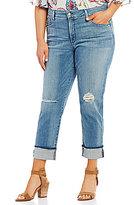 NYDJ Plus Jessica Relaxed Frey Cuff Boyfriend Jeans