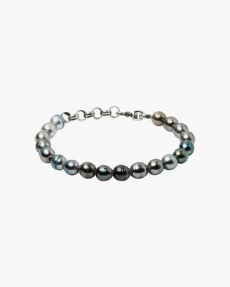 Title Of Work Unisex Tahitian Pearl Beaded Bracelet