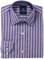 Tailorbyrd Woven Navy Check Dress Shirt (Big Boys)