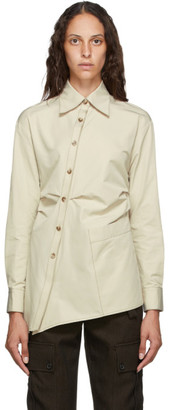 ANDERSSON BELL Beige Asymmetric Ryley Shirt
