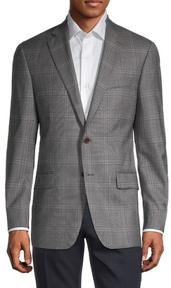 Hart Schaffner Marx Windowpane Check Wool Jacket