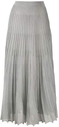 Nk lurex knit long skirt