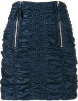 J.W.Anderson Smocked Mini Skirt - women - Polyamide - 10