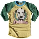 Rowdy Sprout Boy's Sublime Dog Raglan Tee - Green