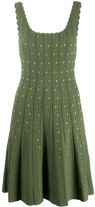Sandro Paris Embellished Ribbed Knit Mini Dress