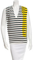 Balenciaga Striped Sleeveless Top