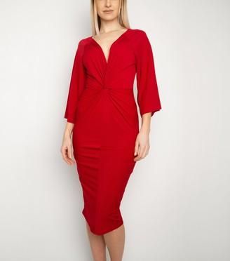New Look Miss Attire Twist Front Midi Dress