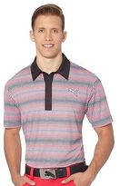 Puma #GOTIME Check Stripe Golf Polo Shirt