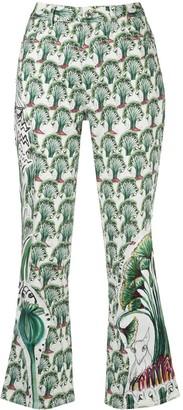 Tsumori Chisato floral print slim-fit trousers